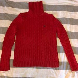 Chaps Women's L Red Turtleneck Sweater